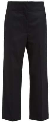 Raey Elasticated Back Wool Trousers - Womens - Black