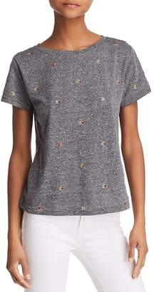 Honey Punch Flower Embroidered Tee