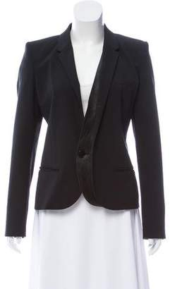 Barbara Bui Leather-Trimmed Structured Blazer