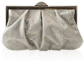 Judith Leiber Couture Natalie Full-Bead Foiled Clutch Bag