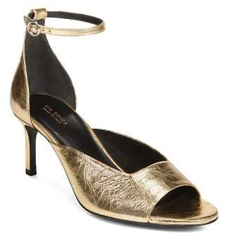 Via Spiga Women's Jennie Metallic Kitten Heel Sandals