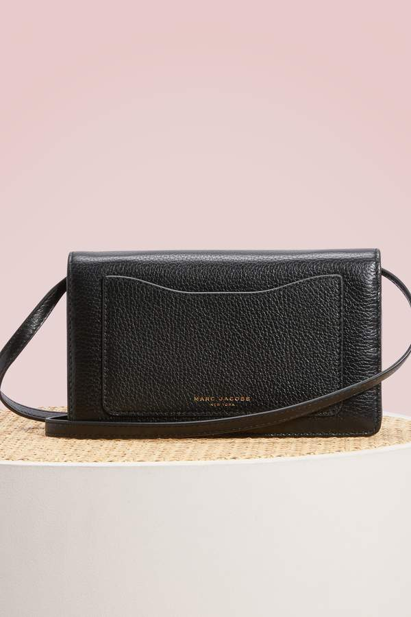 Marc Jacobs Recruit Wallet With Leather Strap