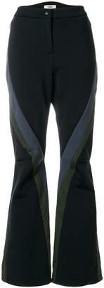 Fendi flared colour-block trousers