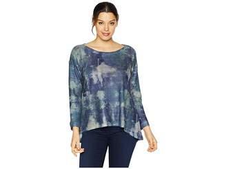 Nally & Millie Blue Tie-Dye Print Top