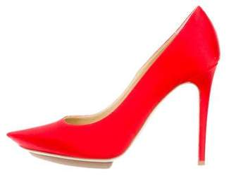 Stella McCartney Satin Pointed-Toe Pumps