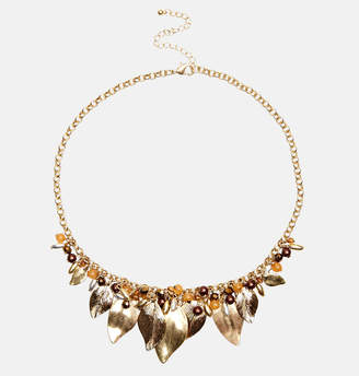 Avenue Beaded Leaf Necklace