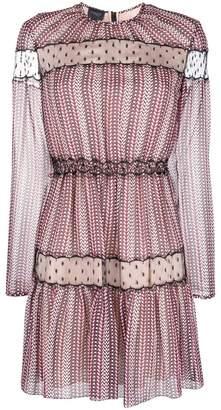 Giambattista Valli embroidered long-sleeve dress