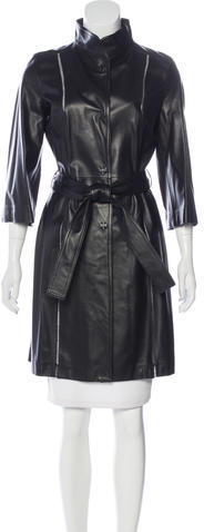 Valentino Valentino Knee-Length Leather Coat