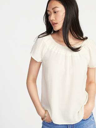 Old Navy Relaxed Smock-Neck Top for Women