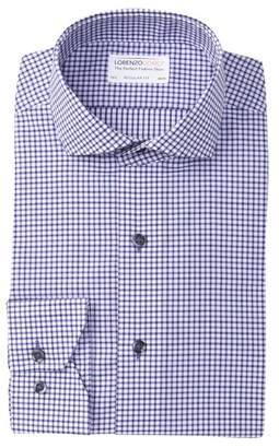 Lorenzo Uomo Twill Plaid Regular Fit Dress Shirt