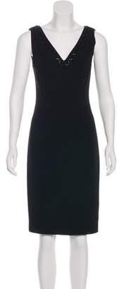 Prada Embellished Knee-Length Dress