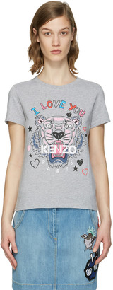 Kenzo Grey Valentines Tiger T-Shirt $120 thestylecure.com