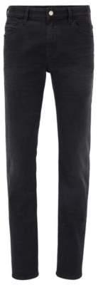 BOSS Hugo Mercedes-Benz Cotton Jean, Slim Fit Delaware 34/30 Charcoal