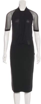 Christian Dior Short Sleeve Midi Dress