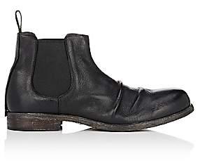 Shoto Men's Wrinkled-Vamp Chelsea Boots - Black