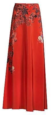 Etro Women's Sketch Floral Silk Skirt