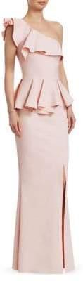 Chiara Boni Mika Peplum Evening Gown