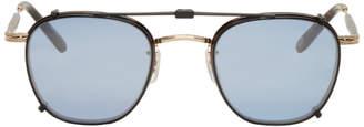 Garrett Leight Tortoiseshell Grant Clip-On Sunglasses