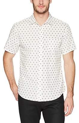 Life After Denim Men's Short Sleeve Slim Fit Alameda Cotton Dobby Shirt