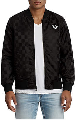 True Religion CHECKERED BUDDHA BRAND NYLON JACKET