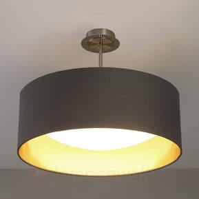 LED-Stoffdeckenlampe Coleen in Grau und Gold