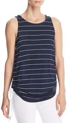 Kenneth Cole Ruched Drawstring Striped Tank
