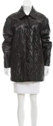 Burberry Oversize Leather Coat