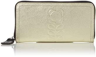 Orla Kiely Women's Embossed Flower Stem Leather Big Zip Wallet