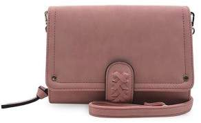 Violet Ray Wallet On A String Faux Leather Crossbody Bag