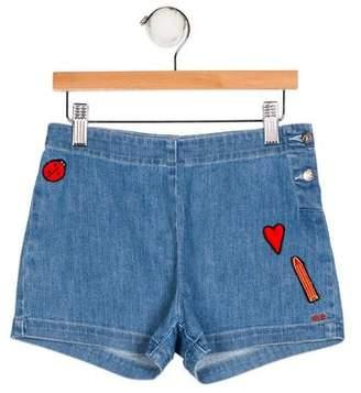Sonia Rykiel Girls' Appliqué Denim Shorts