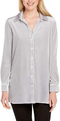 Foxcroft Elena Velvet Shirt