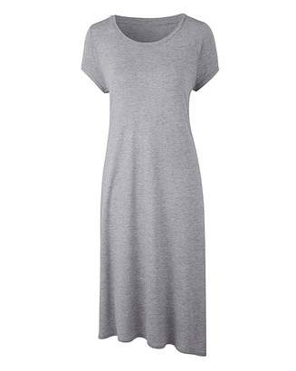 Fashion World Grey Marl Side Split Tunic