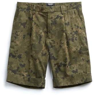 Todd Snyder Pleated Camo Short in Olive