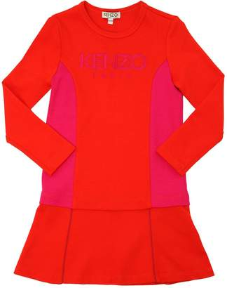 Kenzo Logo Printed Cotton Milano Jersey Dress