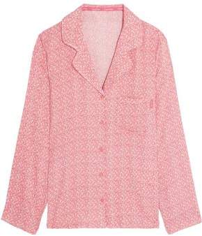 Calvin Klein Printed Voile Pajama Top