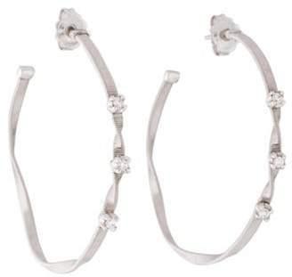 Marco Bicego Marrakech 18K Diamond Hoop Earrings white Marrakech 18K Diamond Hoop Earrings