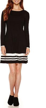 JESSICA HOWARD Jessica Howard Long Sleeve Sweater Dress $34.99 thestylecure.com