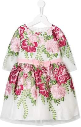 David Charles Kids floral applique dress