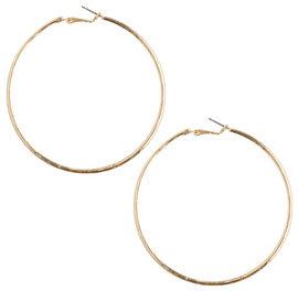 Etched Hoop Earring