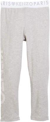 Kenzo Cotton-Stretch Logo Leggings, Size 8-12