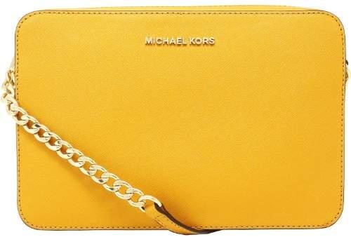 Michael Kors Women's Large Jet Set Saffiano Leather Crossbody Cross Body Bag Satchel - Marigold - MARIGOLD - STYLE