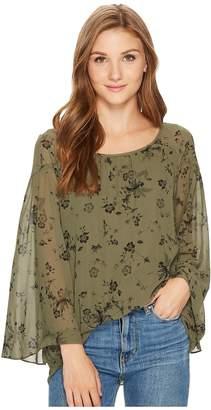 Kensie Fresh Floral Top KS0K4355 Women's Clothing