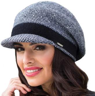 Simona Kamea women's beret patterned woolen warm winter - made