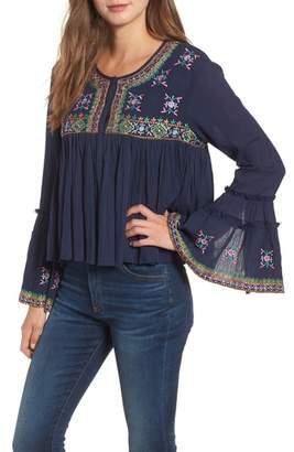 Kas Megan Embroidered Cotton Gauze Blouse