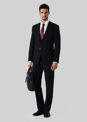 Giorgio Armani Trader Blu Pure Wool Suit