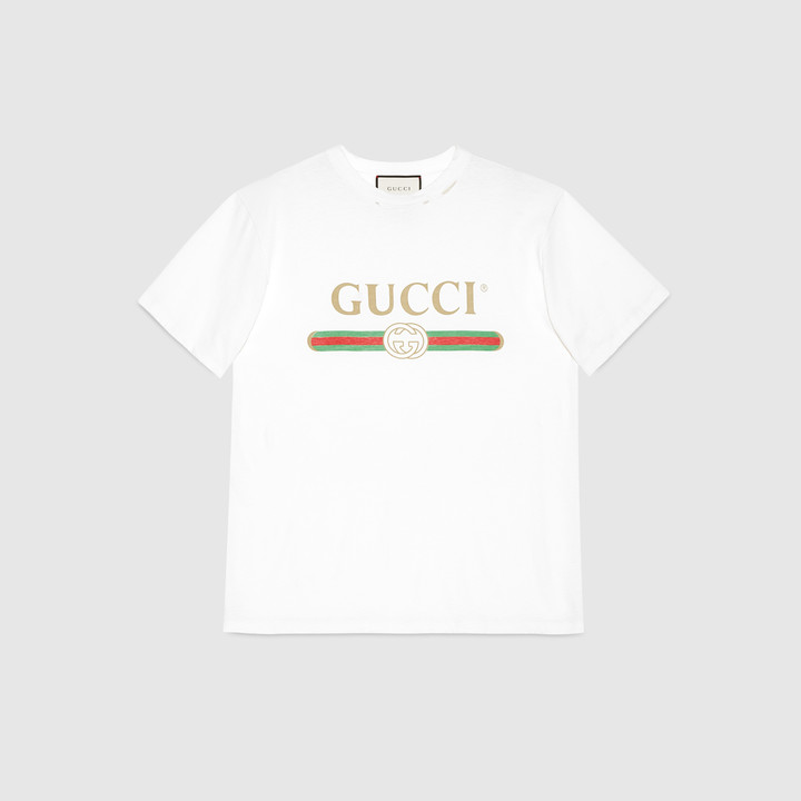 Gucci print cotton t-shirt 3
