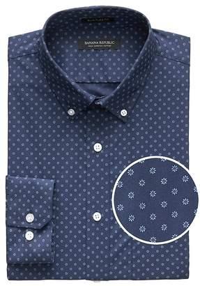 Banana Republic NEW Slim-Fit Tech-Stretch Cotton Floral Shirt