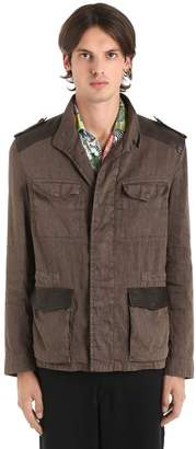 Etro Washed Linen Blend Field Jacket