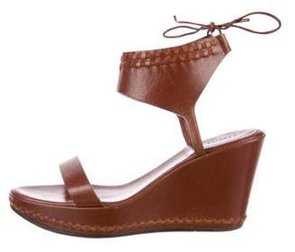 Carritz Leather Wedge Sandals