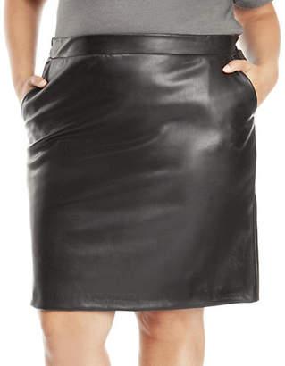 Dex Plus Pull-On Pencil Skirt